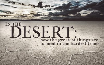 In The Desert: How the greatest things are formed in the hardest times.